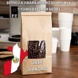 1 lb Peru Organic Coffee Fresh Roasted Daily Sample Whole Be