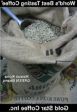 10 lbs - 100% Hawaii - Hawaiian Kona Coffee Green Beans - Fo