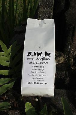 100% Kona Coffee Green Beans  16 oz whole bean