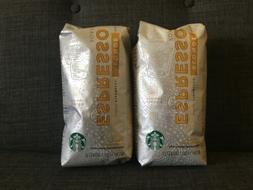 2x Starbucks Blonde Espresso Roast Whole Bean Coffee   100%
