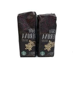 2X  Starbucks Whole Bean Coffee Caffe Verona 1 lb Bag Exp 8/