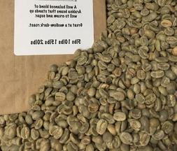 5 blend of unroasted green coffee beans