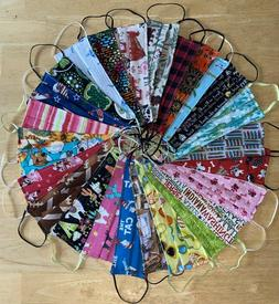 Handmade Adult Cloth Face Mask Washable Reusable Reversible