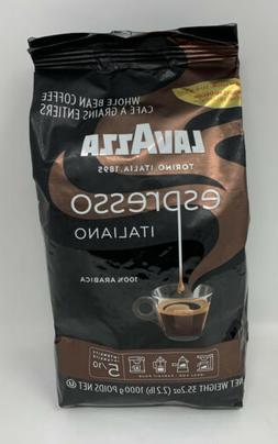Lavazza Caffe Espresso Premium Arabic Whole Bean Coffee, 35.