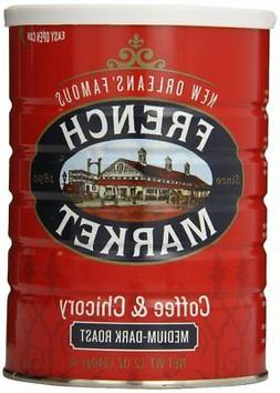 French Market Coffee & Chicory Medium-Dark Roast, Creole Roa