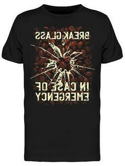 Coffee Beans Break Glass Men's T-shirt
