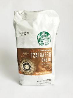 Starbucks Coffee Cafe Breakfast Blend 1.13kg Whole Bean Swee