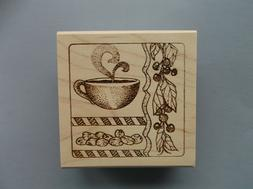 CREATIVE IMAGES RUBBER STAMPS CISTAMPS AROMA COFFEE BEANS NE