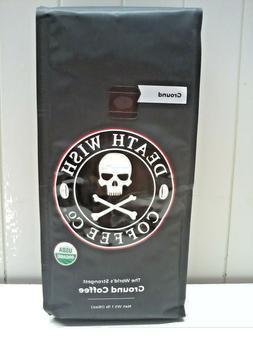 Death Wish Organic USDA Certified Whole Bean Coffee, 16 Ounc