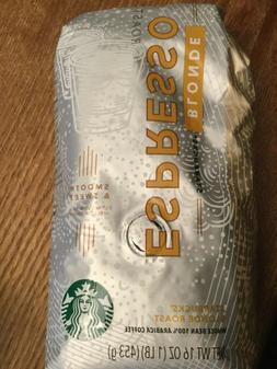 FRESH Starbucks Blonde Espresso Roast Whole Bean Coffee