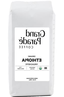 Green Coffee Beans, 5 lbs Organic Ethiopia Yirgacheffe Washe