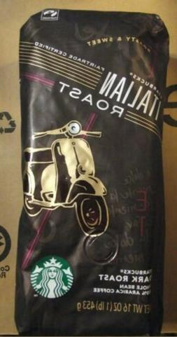 Starbucks Italian Roast Coffee Whole Bean Coffee Dark Roast