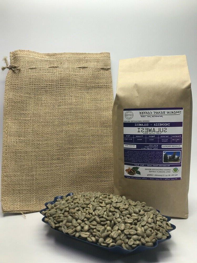 1lb 30lb sulawesi specialty grade premium unroasted