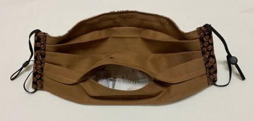 Fabric Mask, Love Beans Trim