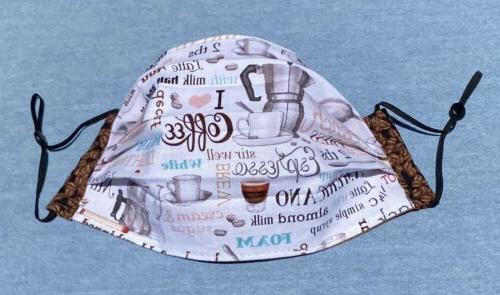 Fabric Mask, Love Coffee, Coffee Beans