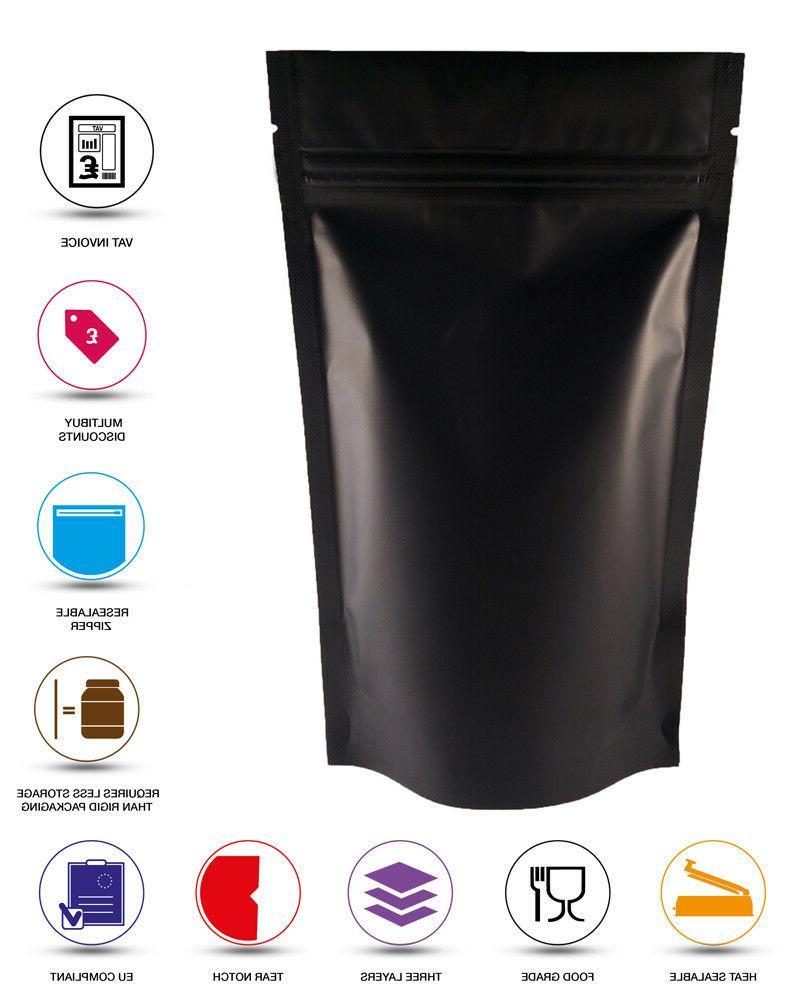 matt black stand up pouch foil mylar