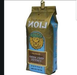LION 24 KARAT 100% KONA COFFEE WHOLE BEANS 3 / 7 OZ BAGS