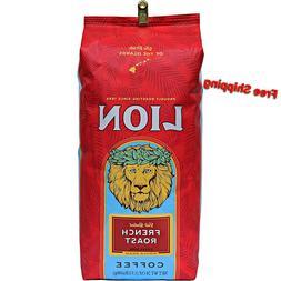 Lion French Roast Coffee - Whole Bean 24 oz