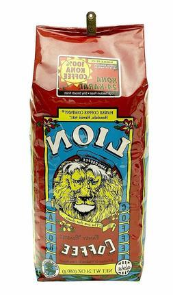 Lion Pure Kona Coffee, Whole Bean 24 oz