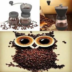 Manual Coffee Bean Mill Grinder Ceramic Burr, bonus scoop, c