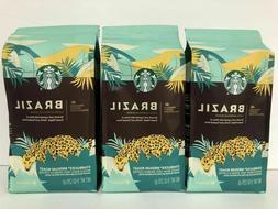 Starbucks Medium Roast Whole Bean Coffee, Brazil, 11oz, 6 Co