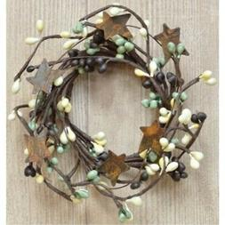mini pip and rusty star candle ring
