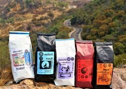 Organic Coffee Beans, Medium, Dark, Border Fresh Roast 4oz-4