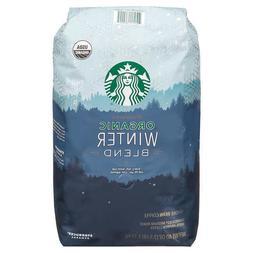 Starbucks Organic Coffee Winter Blend Whole Bean Medium Roas