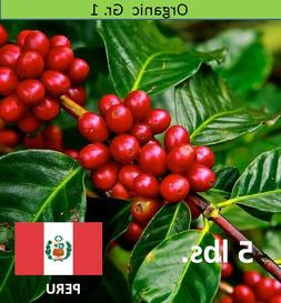 Organic Green Coffee Beans Peru SHB EP Unroasted, 5 lbs.