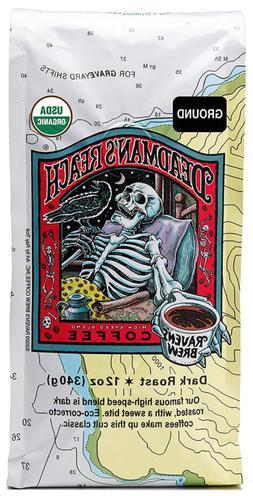 ravens brew coffee organic ground deadmans reach