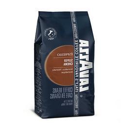 Lavazza Super Crema Espresso Beans 2.2lbs   Six bags-Exp 093
