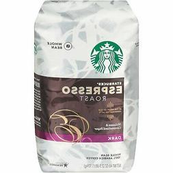 Starbucks Whole Bean Coffee, Espresso Roast Dark  NEW